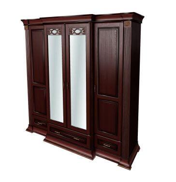 """Шафа 4-х дверна (низ з шухлядами) """"Кармен"""""""