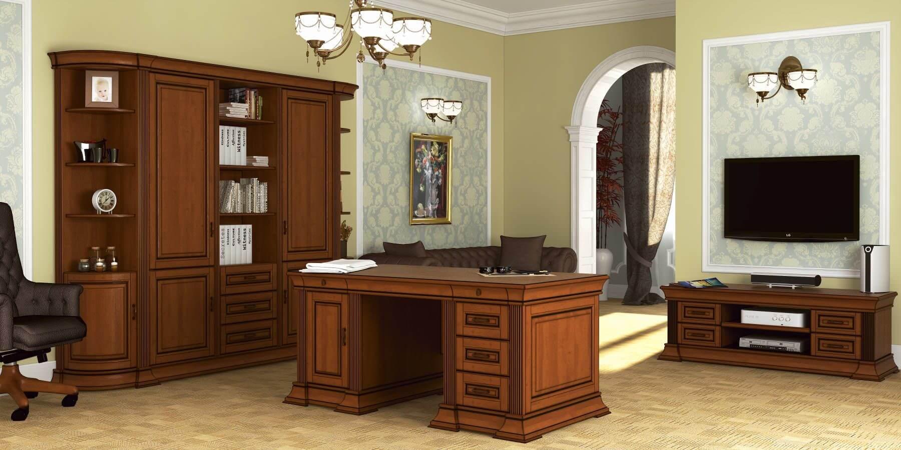 Меблі «Марго» для кабінетів з натурального дерева масиву дуба